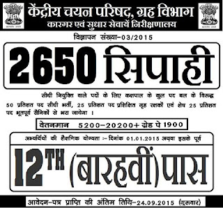 Bihar Police recruitment 2015, constable Application Form, Jailer recruitment 2015,