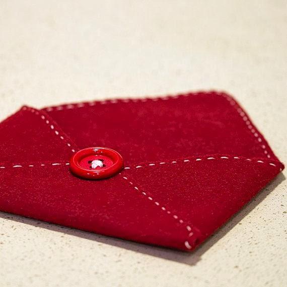 koperty pełne miłości czyli walentynkowe inspiracje DIY koperta z filcu