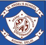 St. Angel's School Rohini Logo