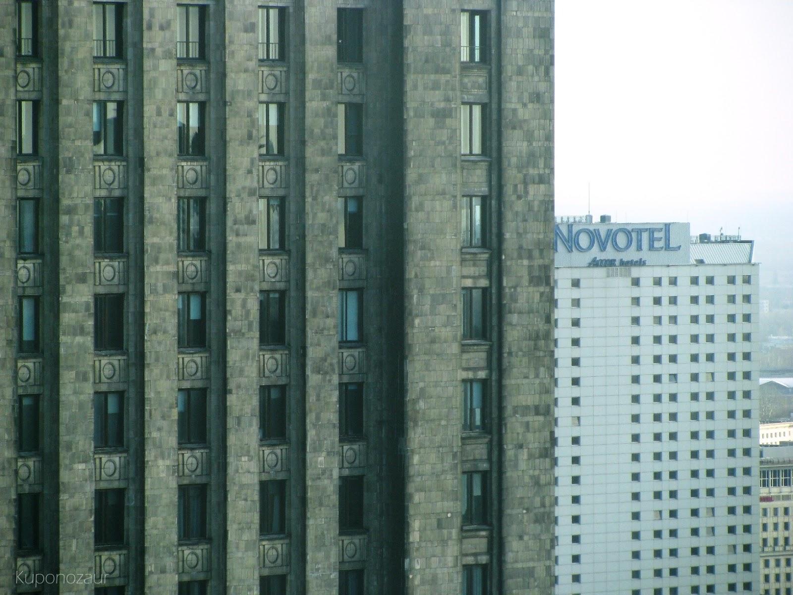 InterContinental Warszawa Novotel za Pałacem Kultury i Nauki