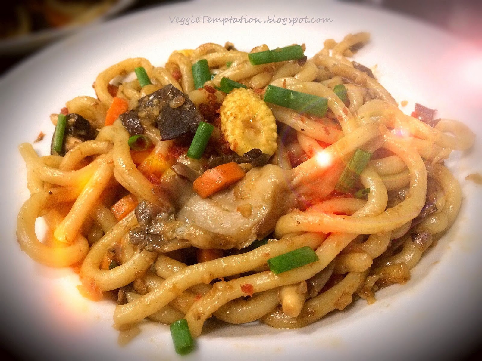 Veggie Temptation: Vegetarian Stir-Fried Udon Noodles ...
