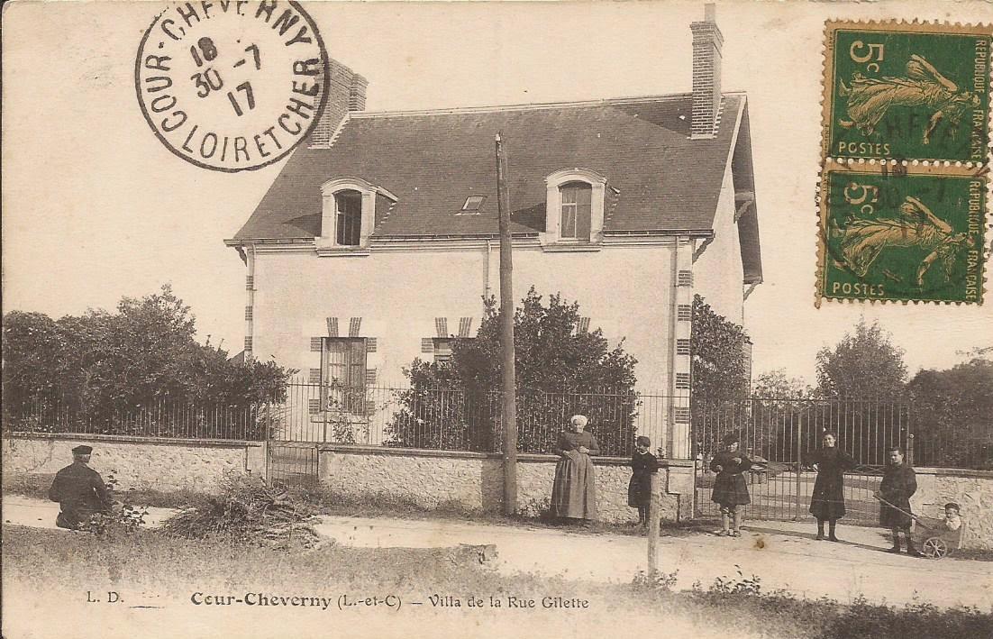 Rue Gilette à Cour-Cheverny (aujourd'hui Boulevard de Verdun)