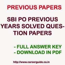 SBI PO Papers 2015