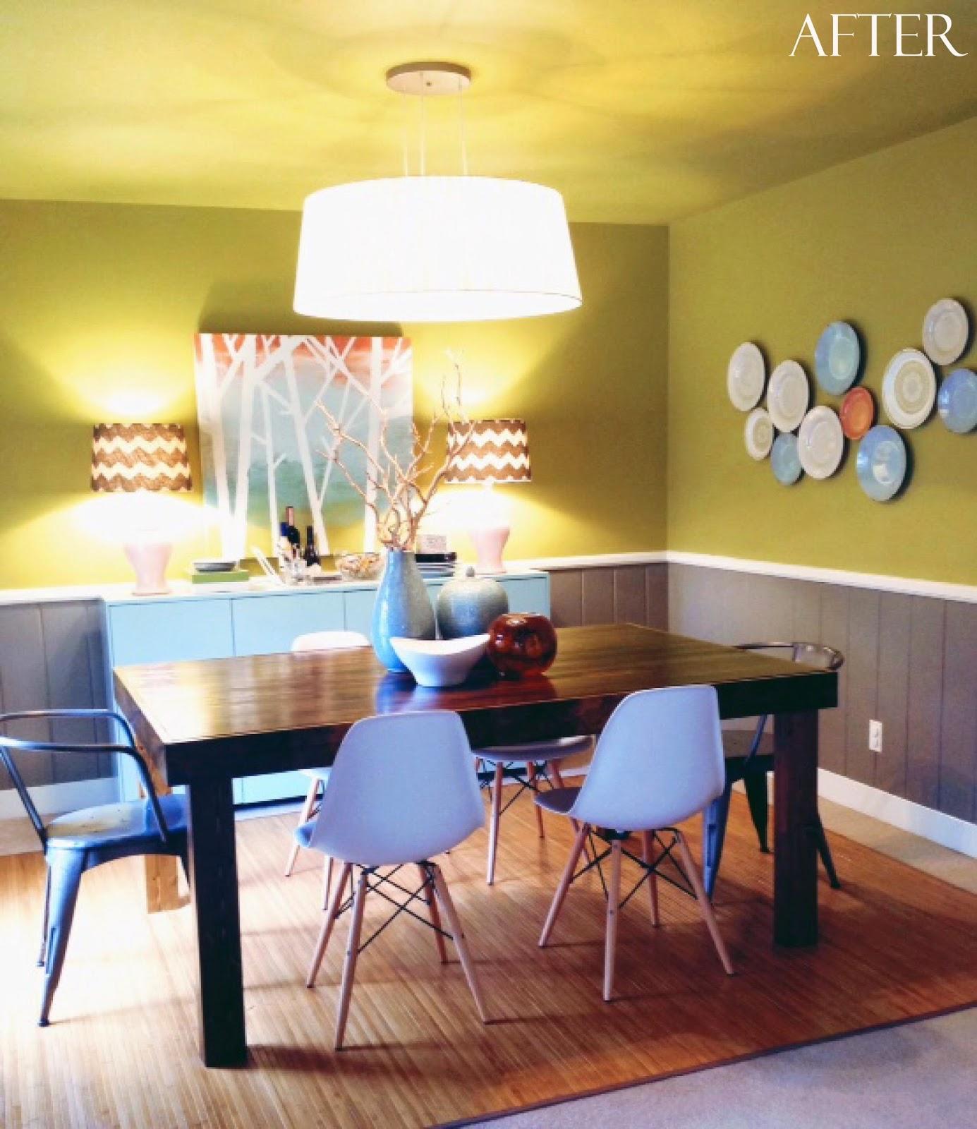 ideadesignmake green gray aqua dining room