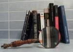 novela, negra, policíaca, lupa, libros, investigación, investigar, detective, crimen, policía