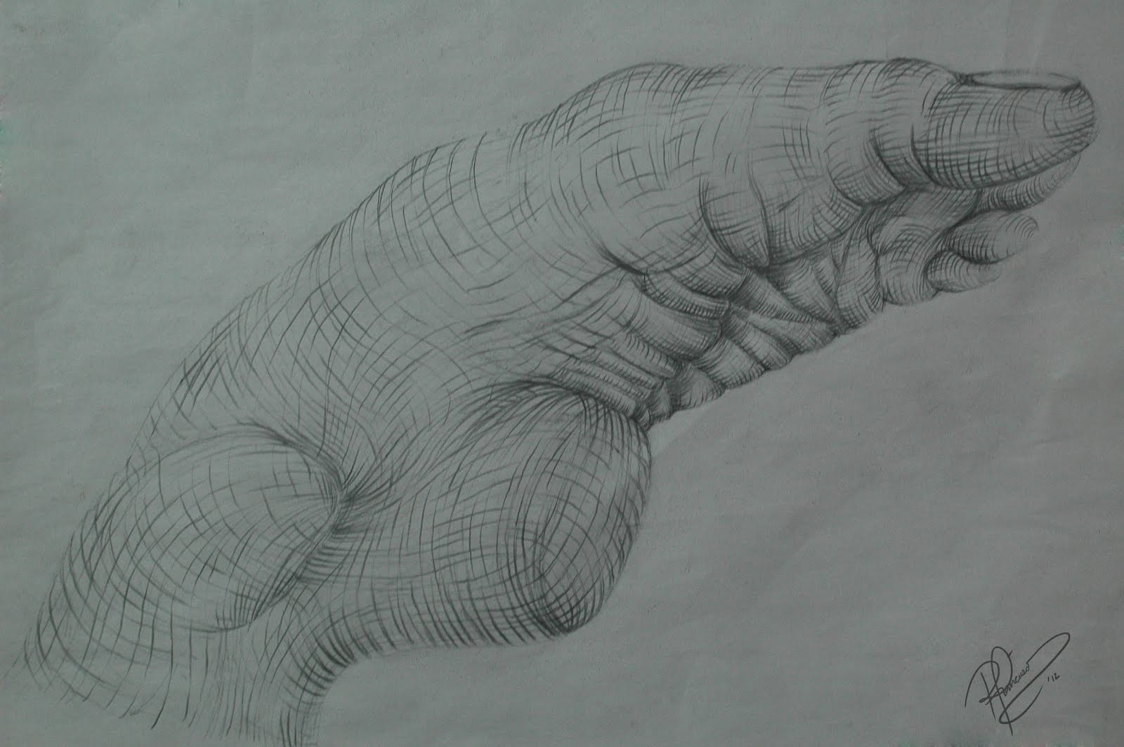 My Figure Drawing - Double Cross-Contour Study of the Hand and ...