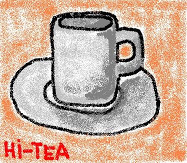 hi-tea yg senget-benget...haha