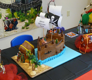 Amazing Pirates Birthday Cake