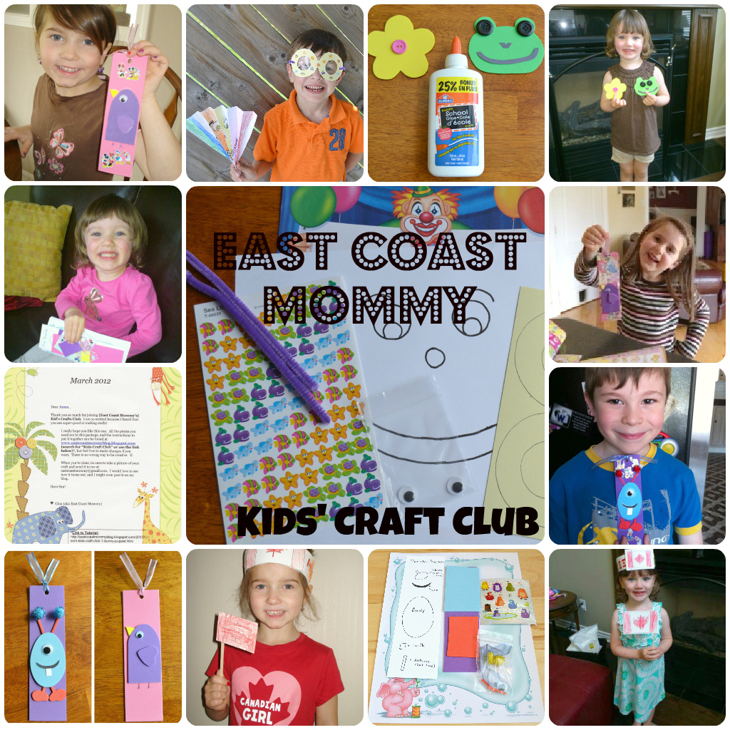 East coast mommy ecm kids 39 craft club 4 month membership for Craft of the month club
