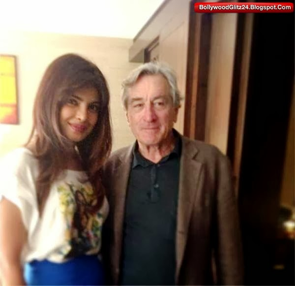 Priyanka Chopra with Legendary Hollywood actor Robert de niro