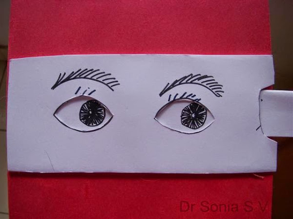 DIY Moving eyes in paper, arts and crafts for kids with paper