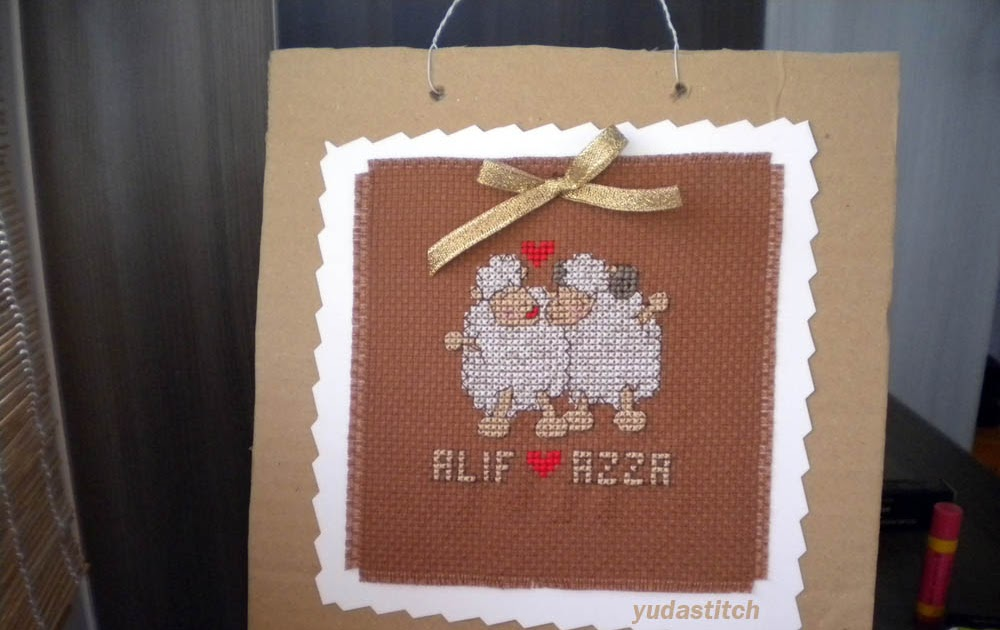 Wedding Gift For Elder Sister : Yuda Stitch - Cross Stitch Malaysia: Alif - Azza