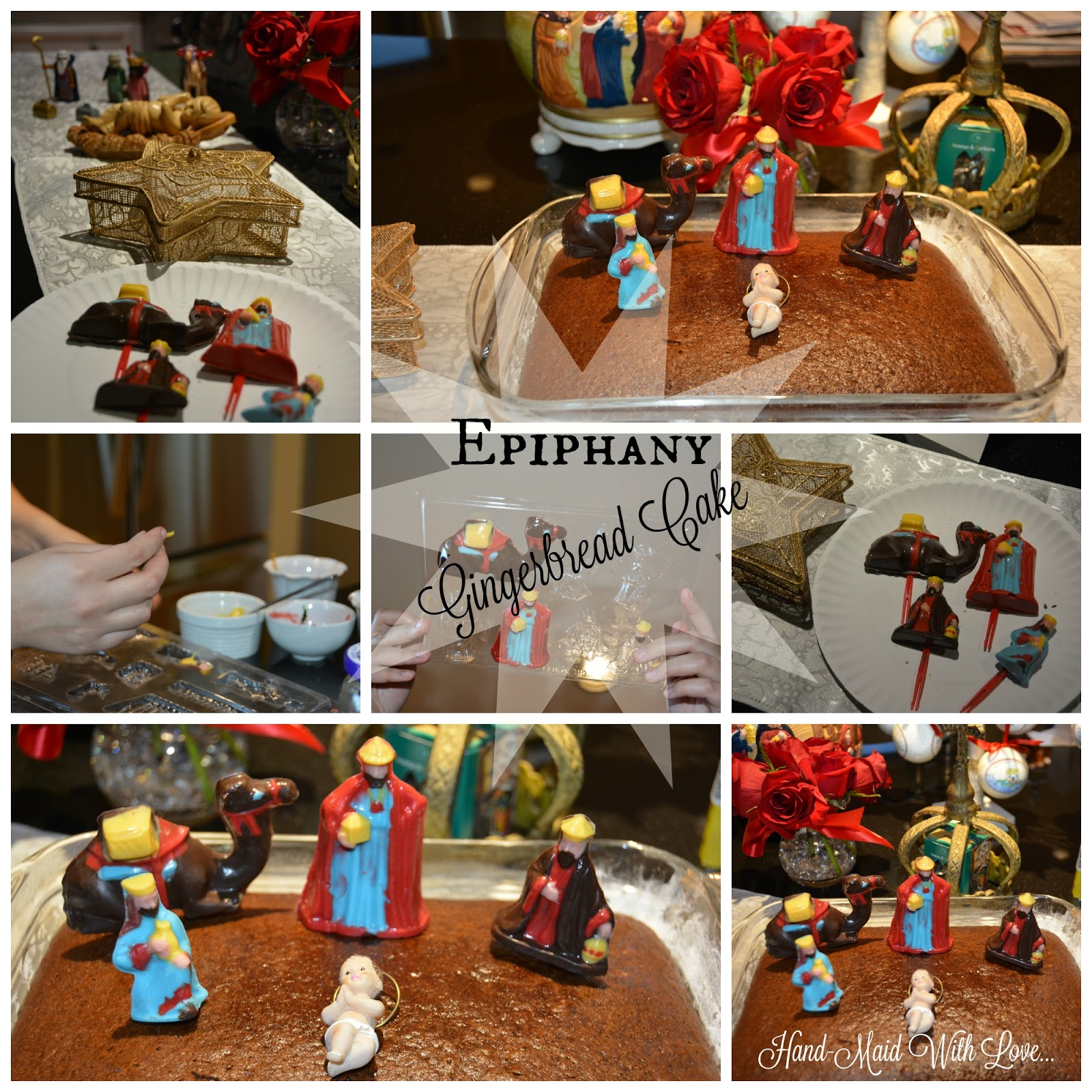 Hand maid with love epiphany gingerbread cake for Decoration epiphanie