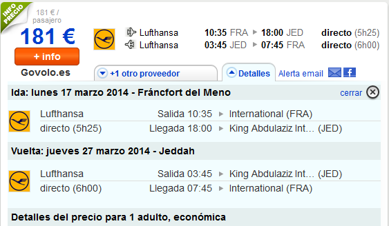Low cost Jeddah con Lufthansa
