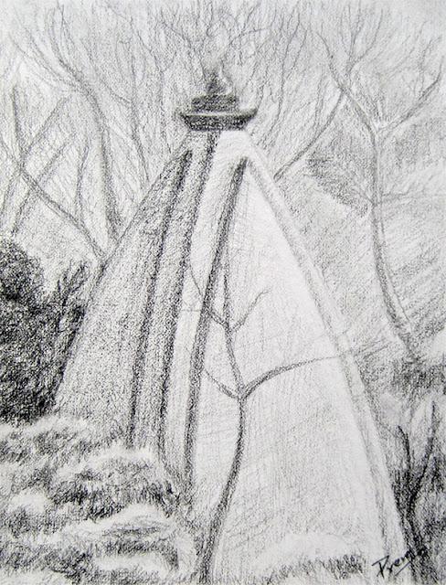 Sketch of a Unique Temple