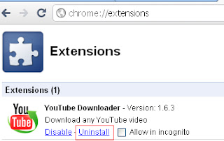 Uninstall Extensions from Google Chrome