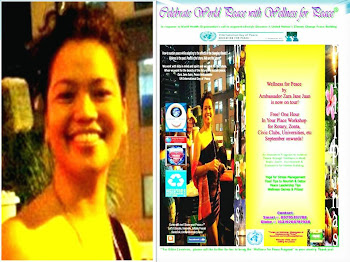 Celebrate World Peace with Wellness for Peace by Ambassador Zara Jane Juan