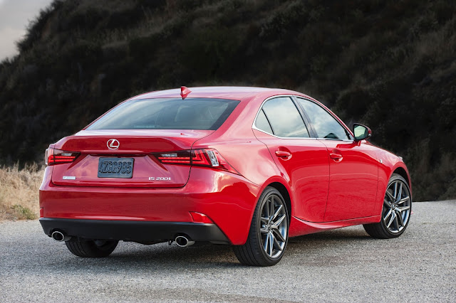 Rear 3/4 view of 2016 Lexus IS 200t