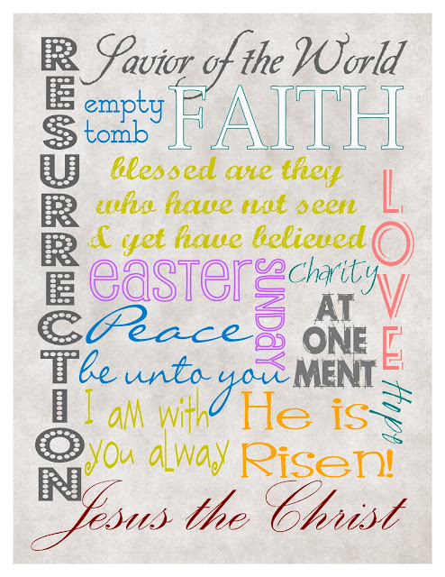 Mule ' Nag Crafts: Inspirational Easter Subway Art Print