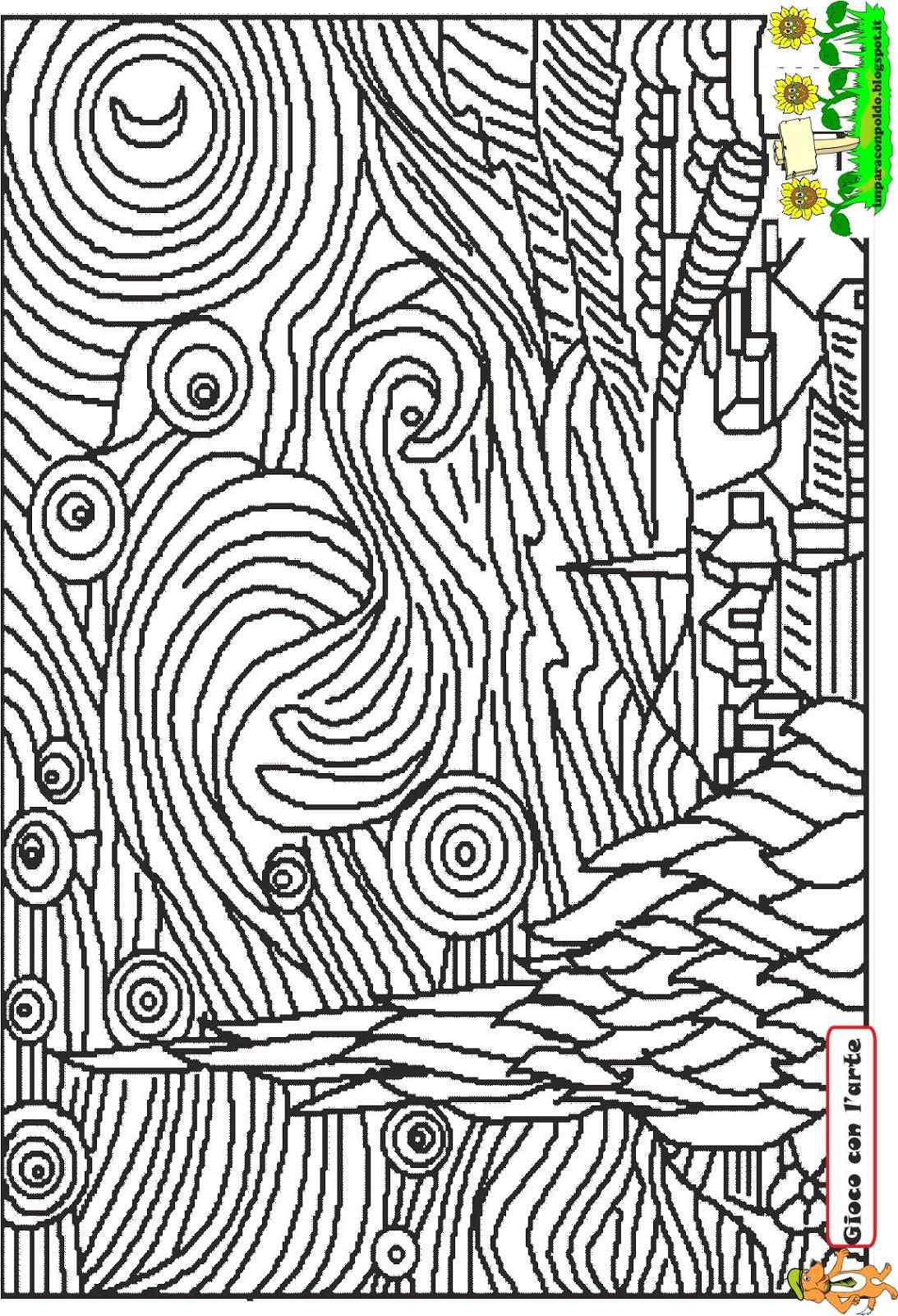 A scuola con poldo gioco con l 39 arte - Immagine dell albero a colori ...