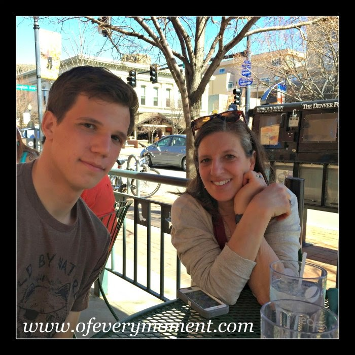 dining outdoors, Colorado, Lunch