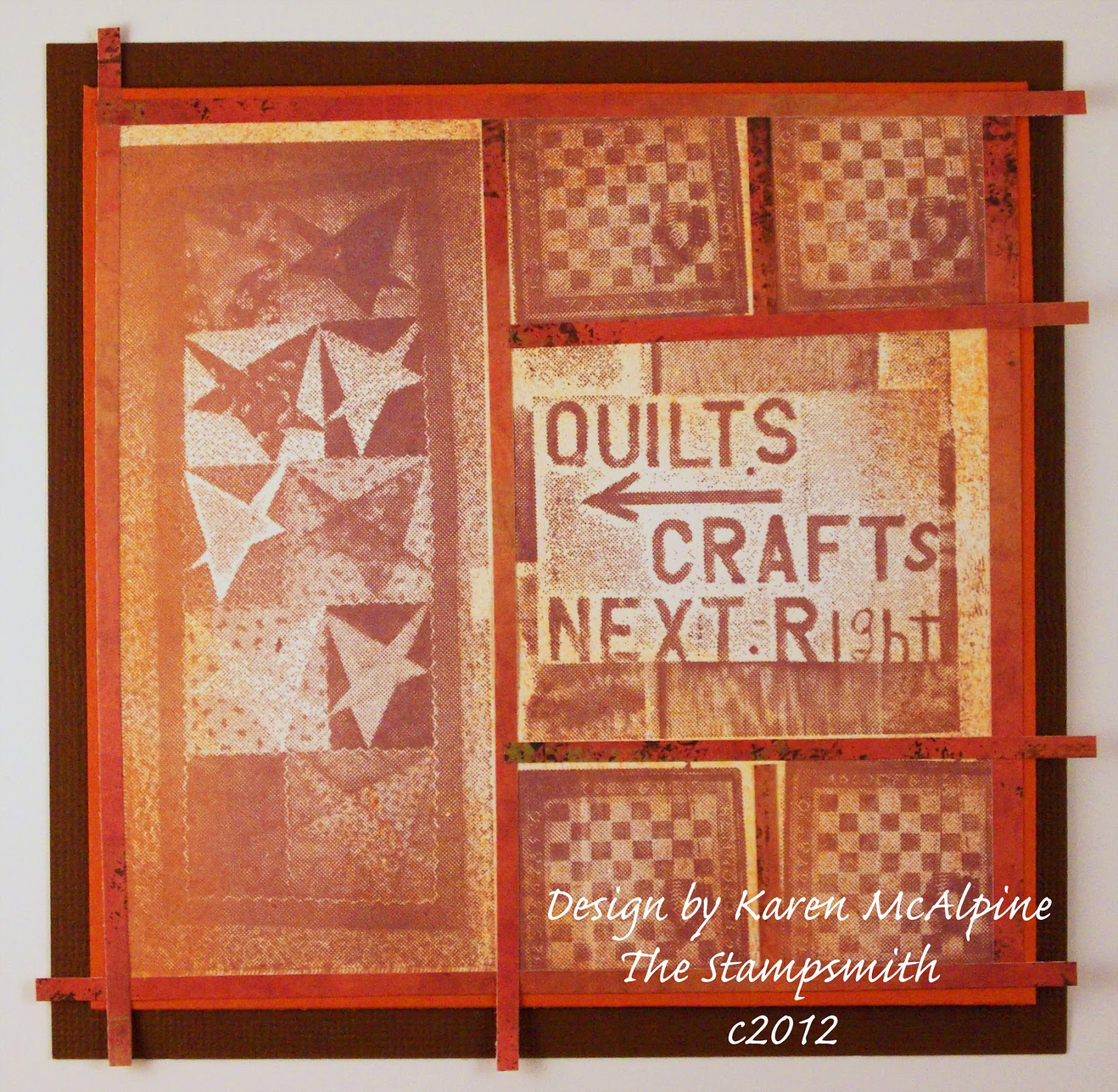 Dreaming and creating fall quilt and craft show card for Quilt and craft show