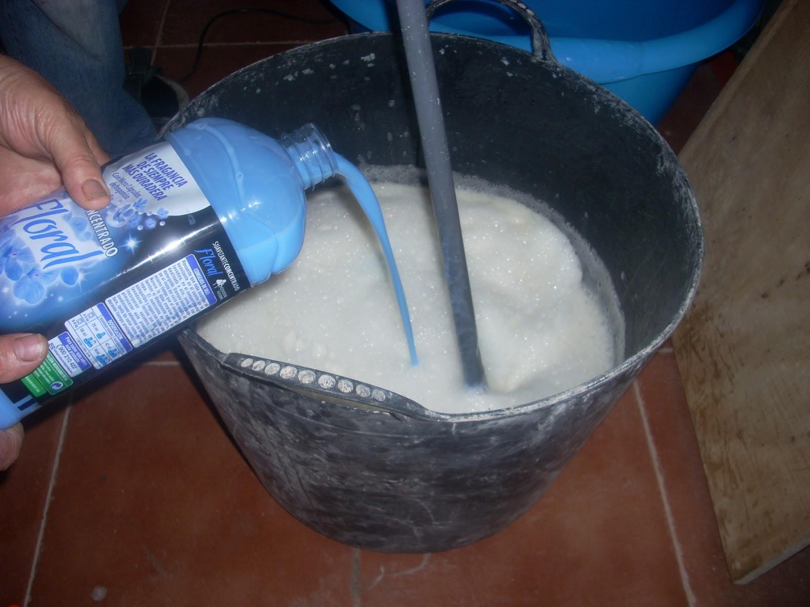 la manzanita colorada jabon casero en crema para lavadora