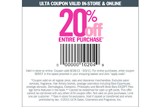 Ulta coupons 20 off august 2018