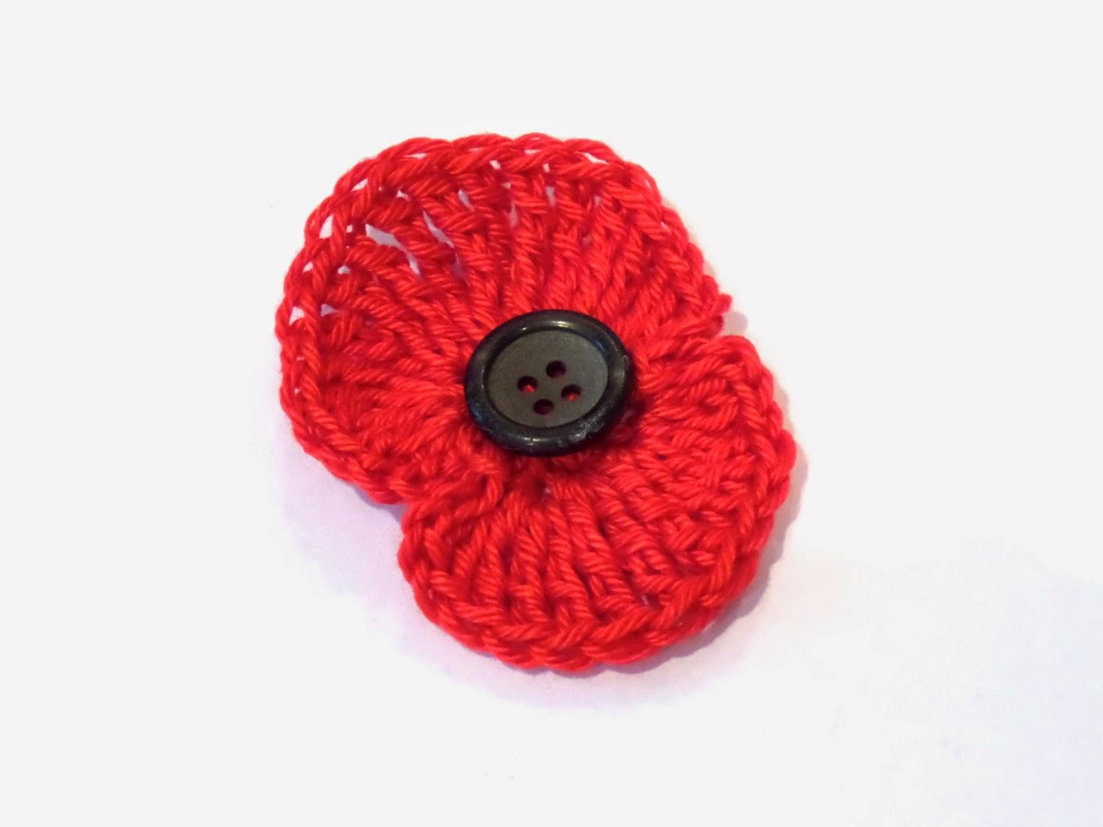 crochet poppy pattern free