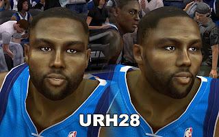 NBA 2K13 Bernard James Cyber Face Patch