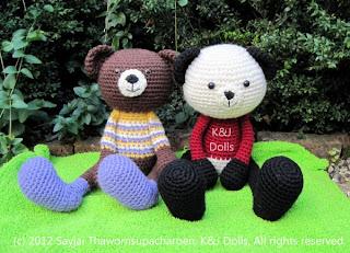 Panda Bear Amigurumi Crochet Pattern – Free! | Angie's