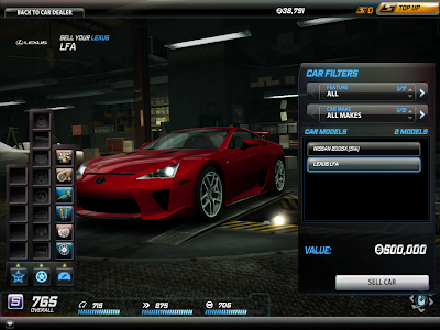 Need For Speed World - Sell Car