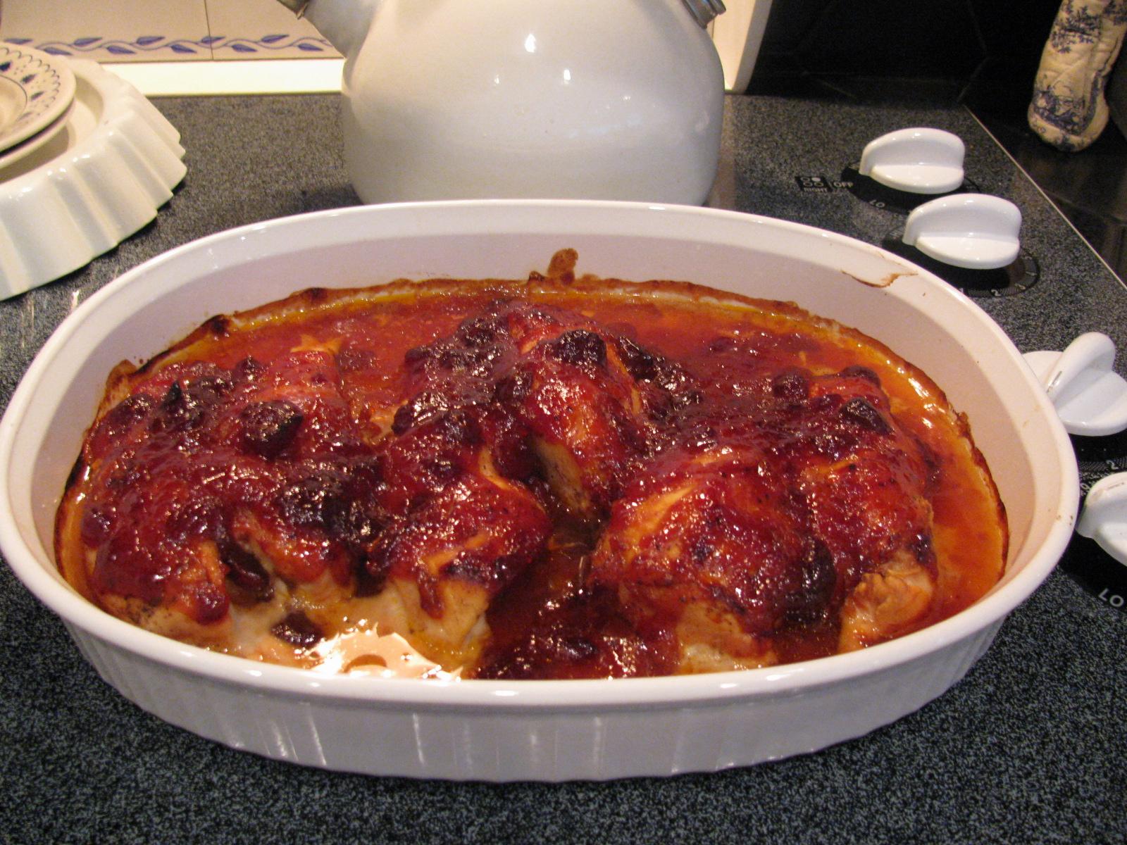 Recipe for cranberry glazed chicken
