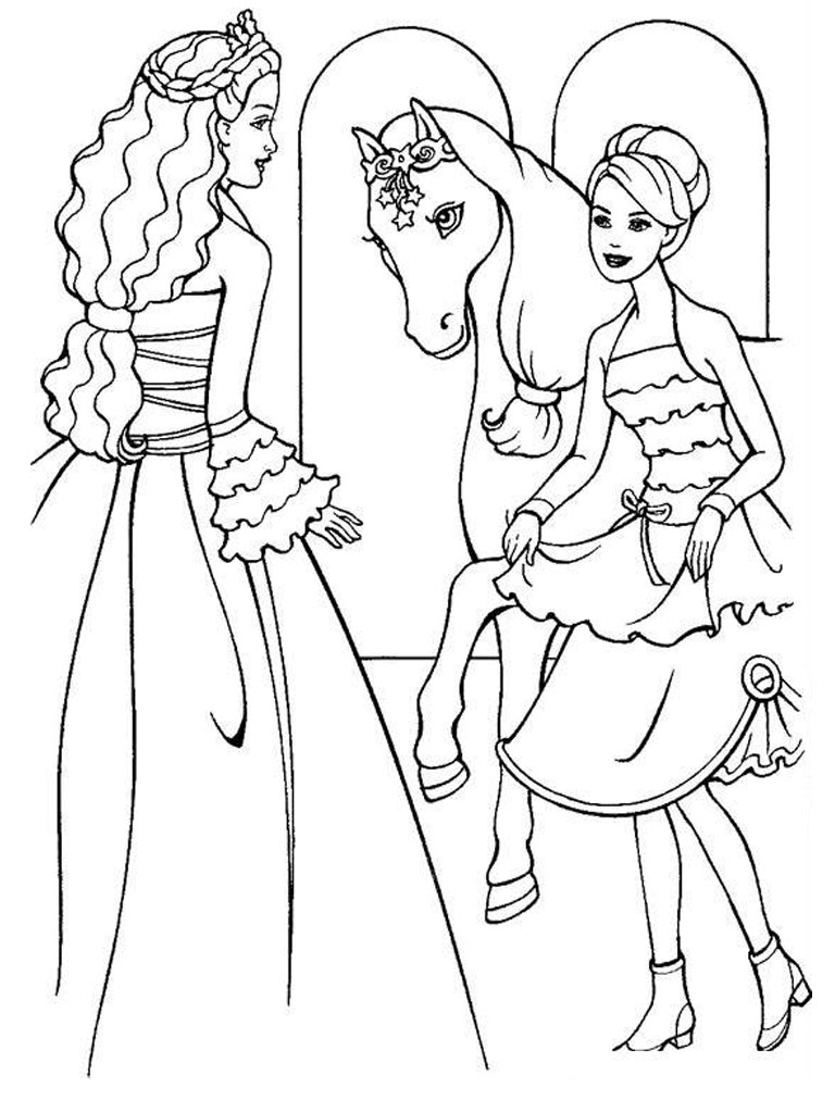 barbie coloring pages for free - photo#22