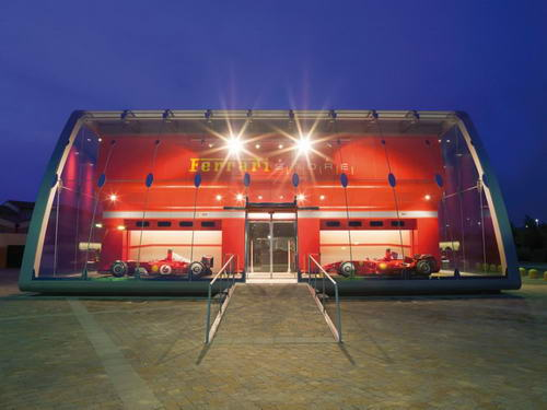 The Unique Design of Ferrari Factory Store