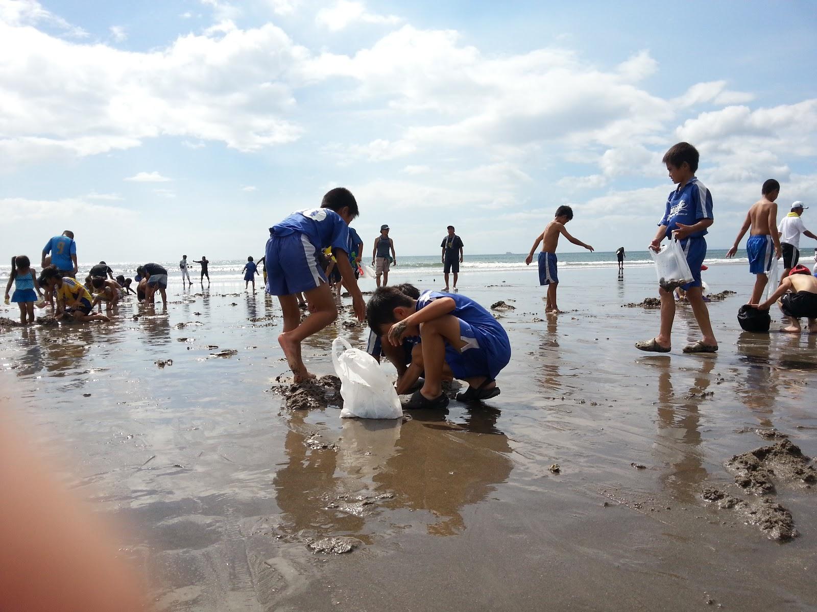 羽田で潮干狩り(海洋少年団親子レク) - たらちゃんのつぶやき