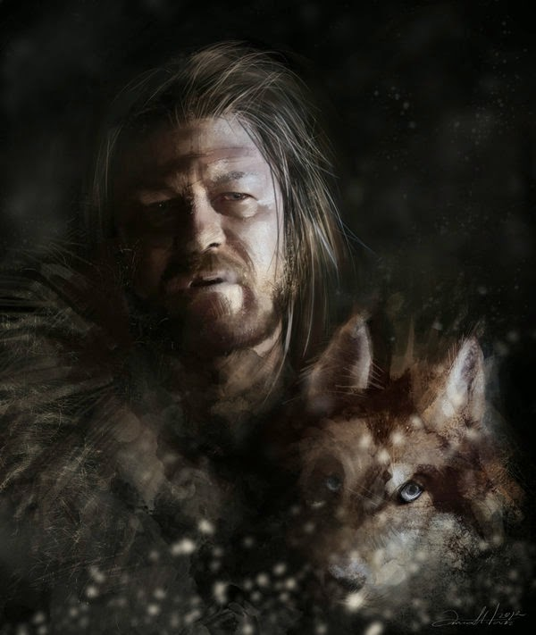 05-Eddard-Ned-Stark-Ania Mitura-GoT-Game-of-Thrones-Digital-Paintings-www-designstack-co