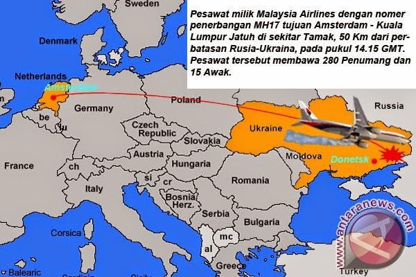 Dewan Keamanan PBB sidang darurat Malaysia Airlines jatuh