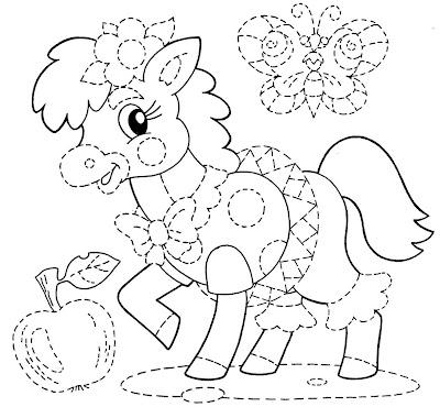 Desenho poney colorir