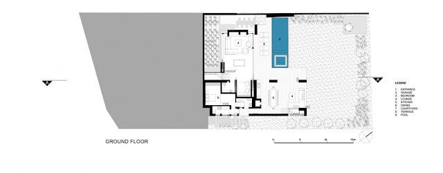 Floor plan of the ground floor of Glen House
