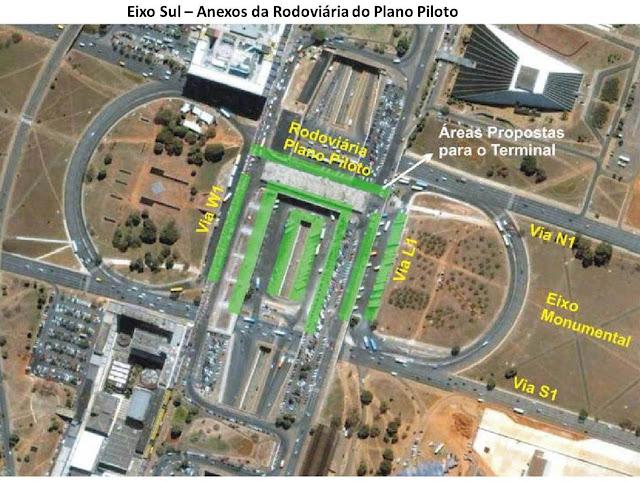 Proposta construção terminal VLP na Rodoviária do Plano Piloto