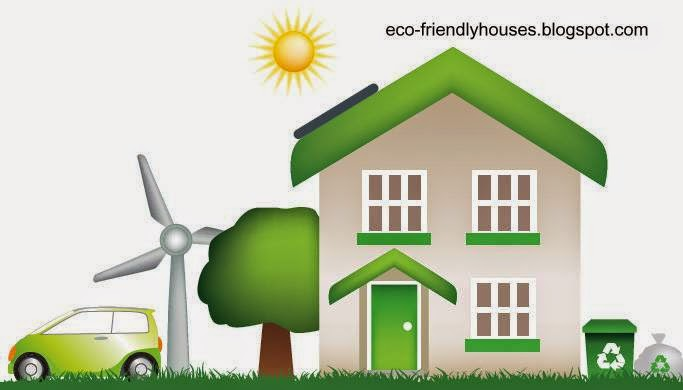 Dibujo de una casa y recursos ecológicos