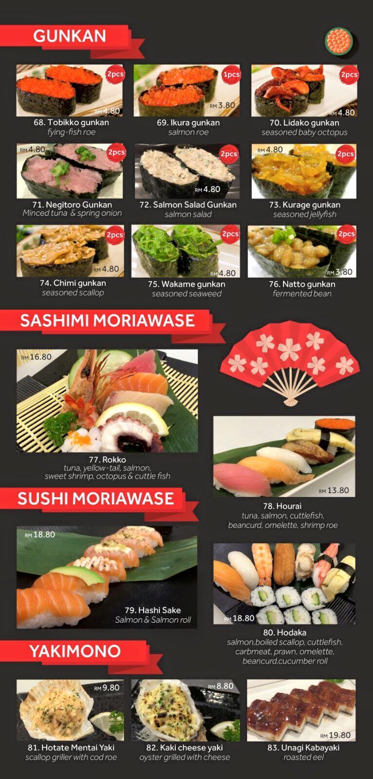 Sushi Cafe Menu Kuching