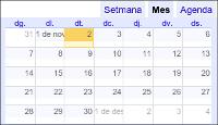 Calendari Comarcal