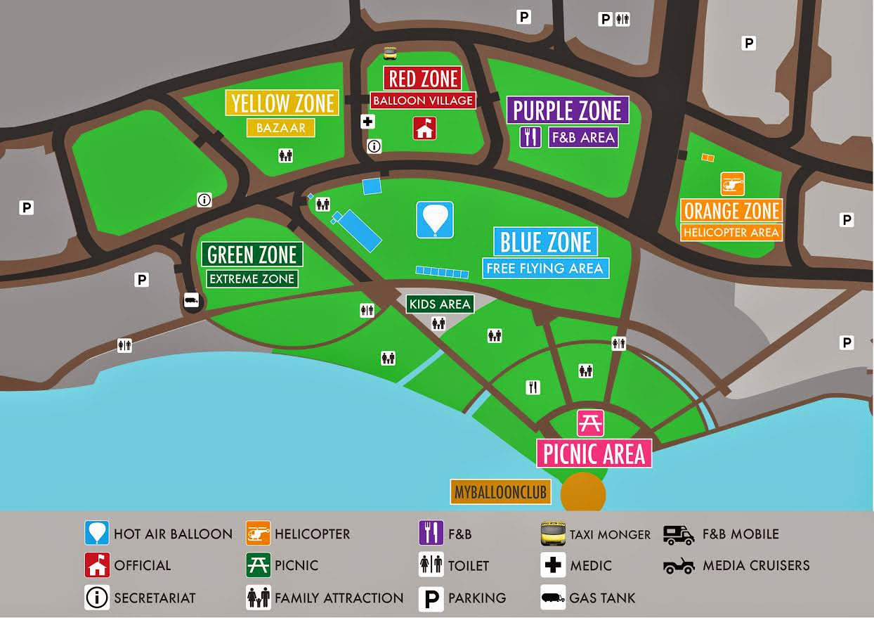 Map of Putrajaya International Hot Air Balloon Fiesta 2015