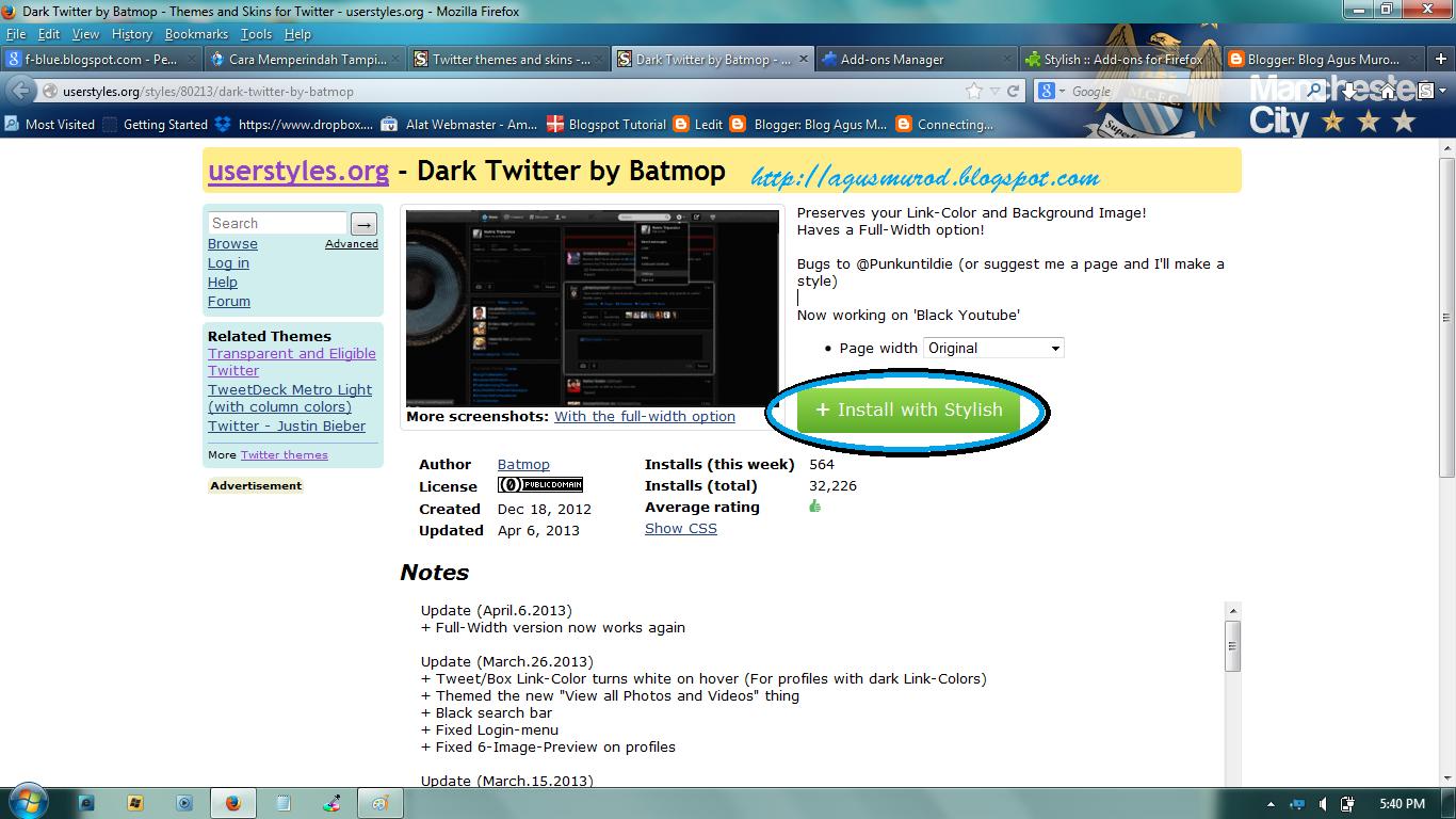 Cara Mudah Mengganti Tampilan Twitter Dengan userstyles.org