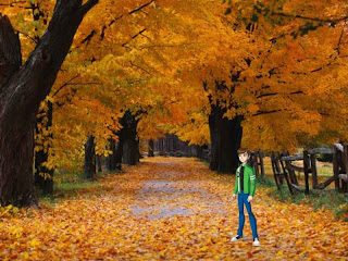 Ben Ten 10 Standing Tall free wallpapers in Autumn Trees background