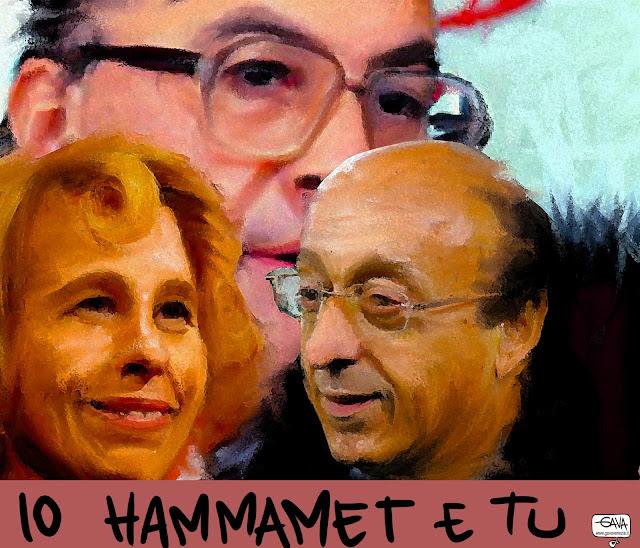 Io Hammamet e tu gava gavavenezia satira vignette craxi moggi ladri socialista socialisti partito demichelis stefania luciano juventus