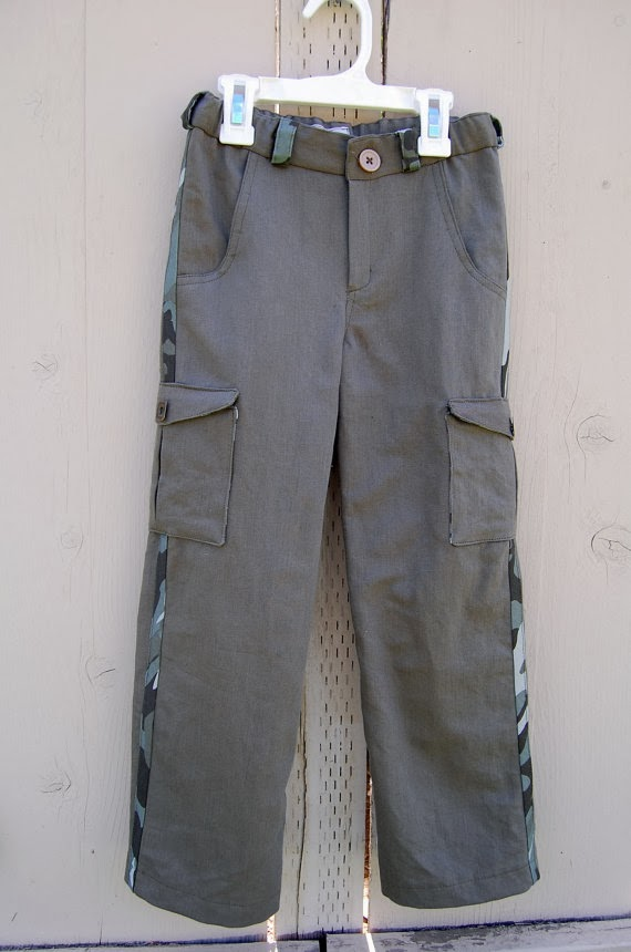perfect cargo pants boy or girl made to order by JaimeSews
