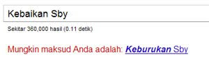 kebaikan SBY